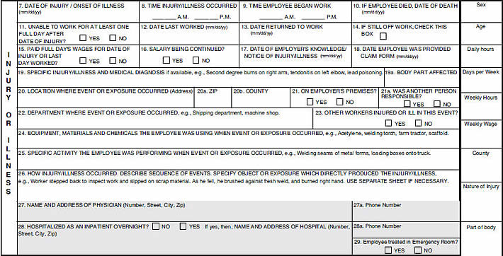 Employer's Report of Injury Form Tutorial